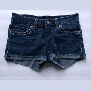 Levi's stretch short shorts cut off blue size 3